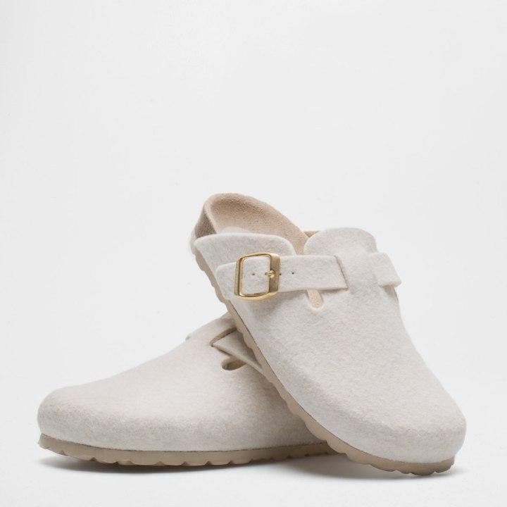 Bucked Felt Mule Clog Slippers