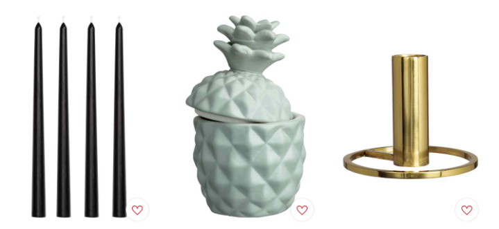 H&M Home Candle Collection: Green, White and Gold