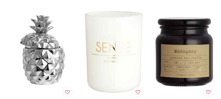 H&M Home Candle Collection: Silver, White and Gold