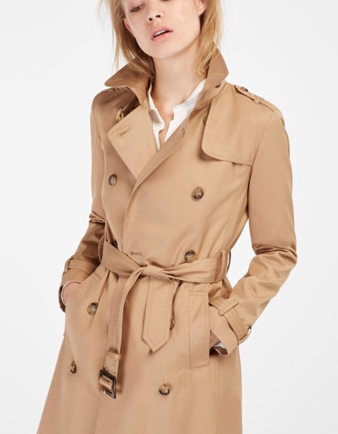 Camel Classic Trench Coat by Massimo Dutti (€149,95)