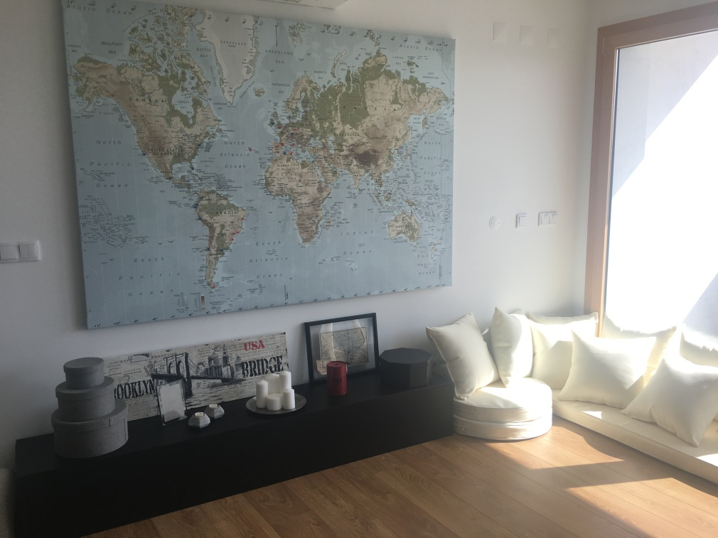 Home Office detail, World Map | My Home With a View