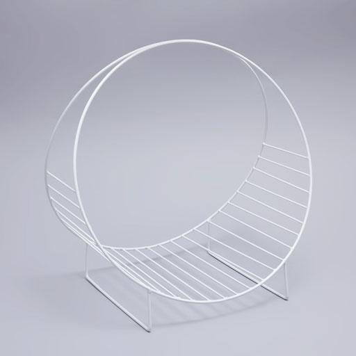 White Metallic Magazine Holder by Zara Home