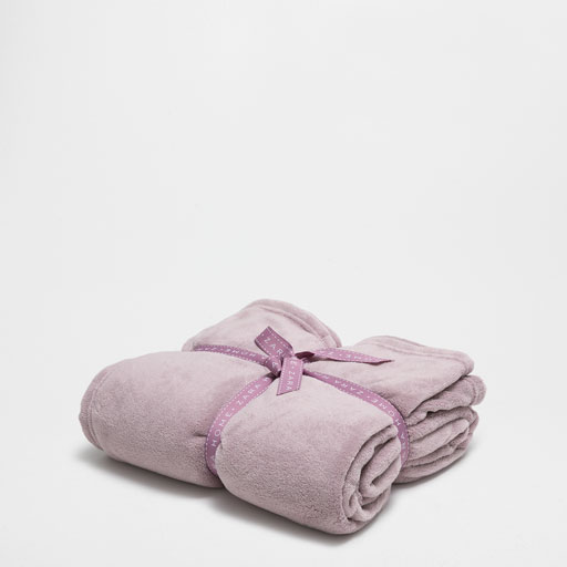 Plain Lilac Fleece Blanket